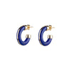 By Pariah Essential Hoops - Lapis Lazuli - Earrings - Broken English Jewelry