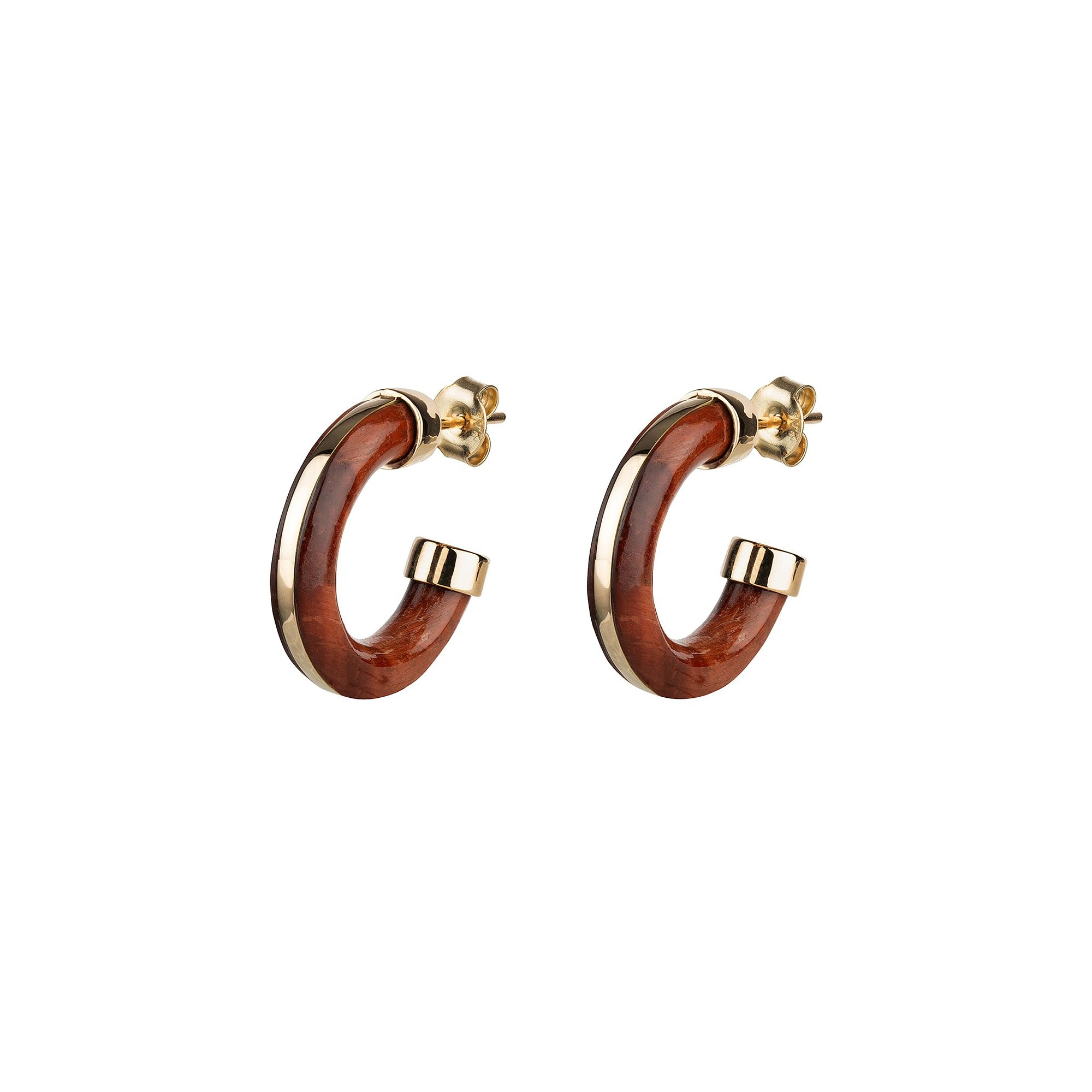 By Pariah Essential Hoops - Red Tiger Eye - Earrings - Broken English Jewelry