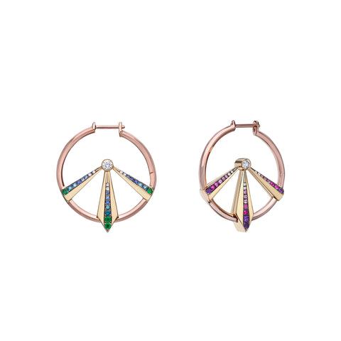 Refraction Hoops by Ele Karela for Broken English Jewelry