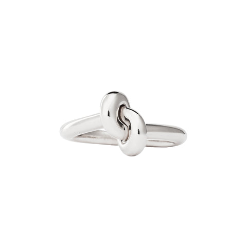 White Tight Knot Ring by Engelbert