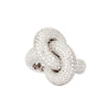 Diamond White Fat Knot Ring - Engelbert - Ring | Broken English Jewelry