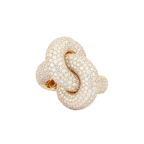 Diamond Yellow Fat Knot Ring - Engelbert - Ring | Broken English Jewelry