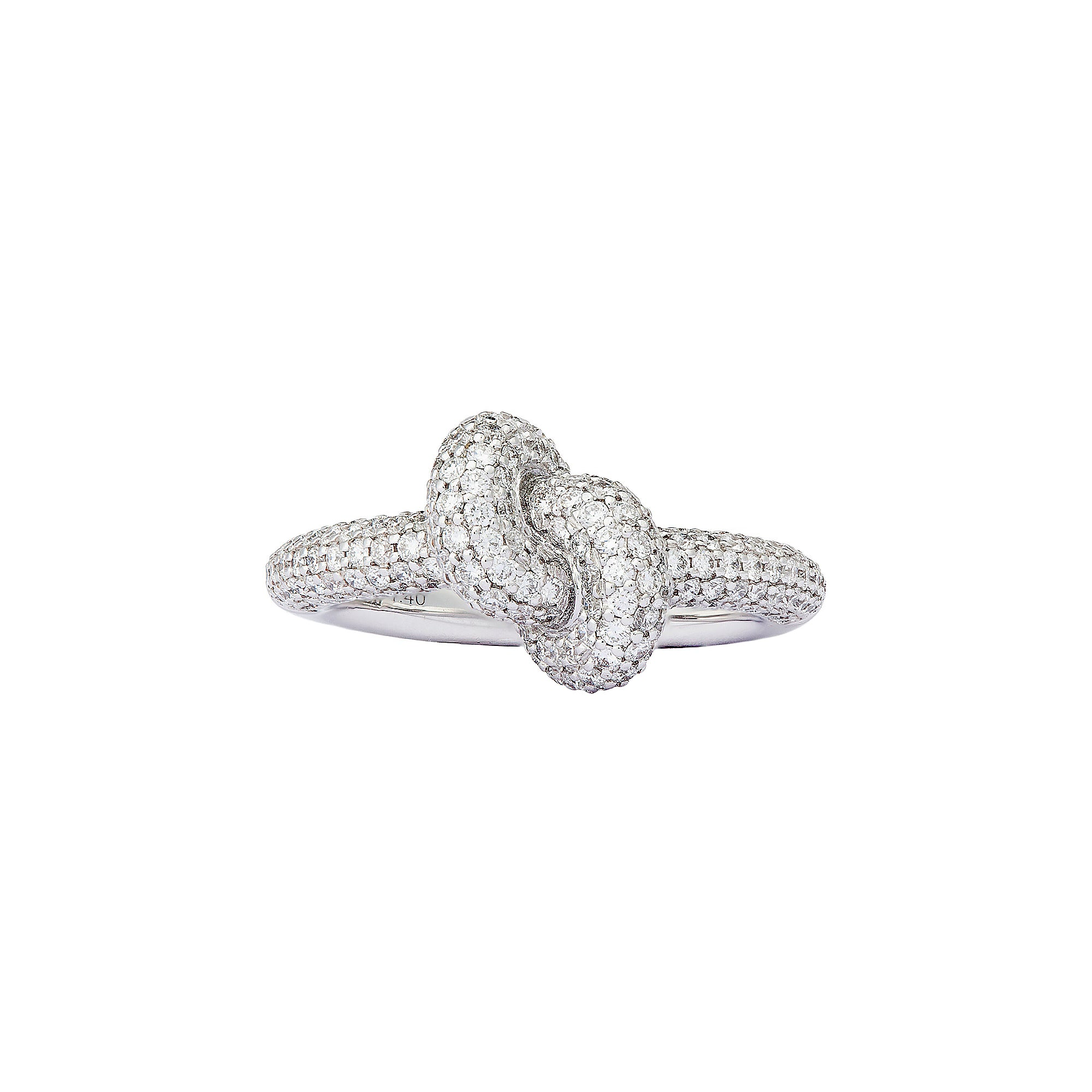 Diamond White Tight Knot Ring by Engelbert