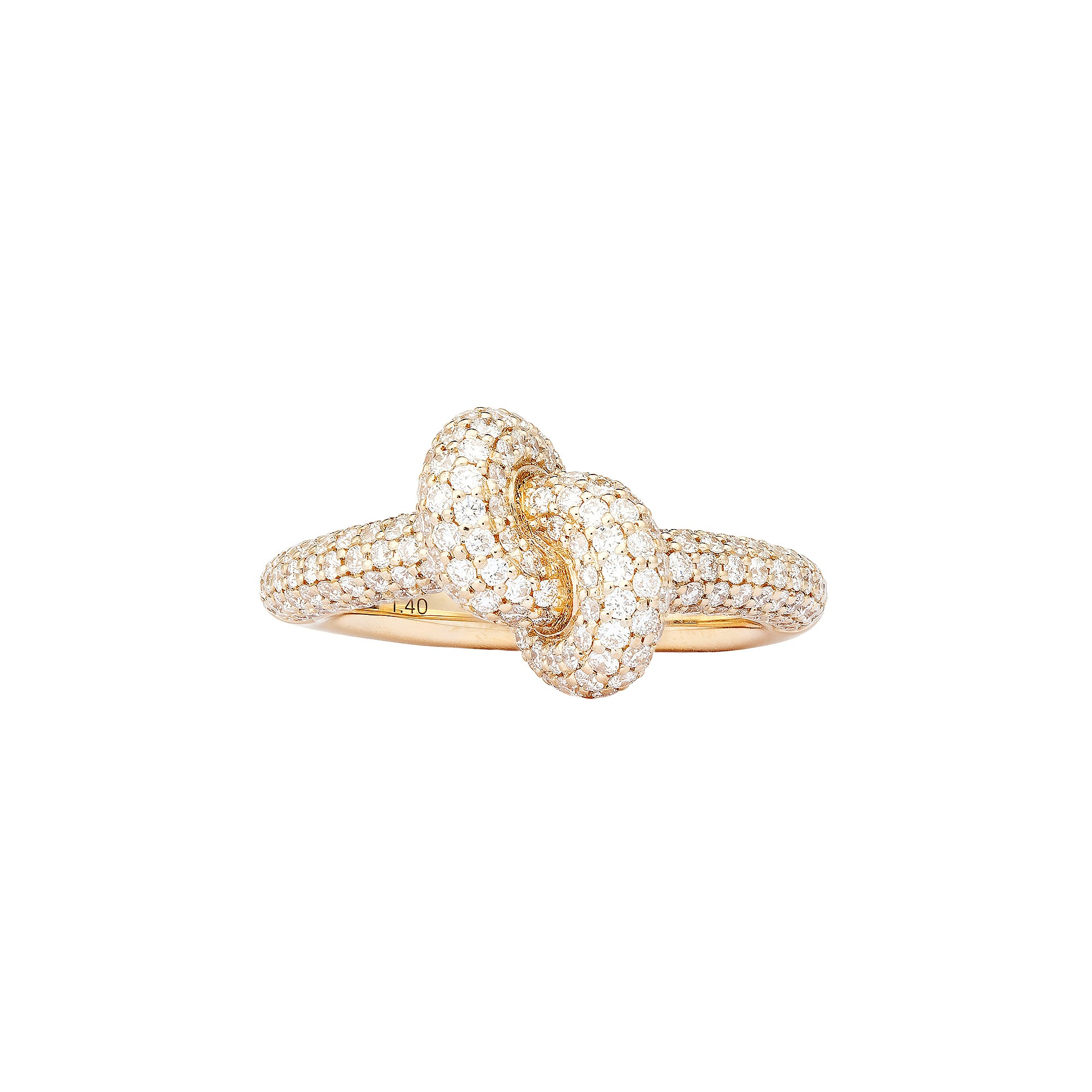 Diamond Yellow Tight Knot Ring By Engelbert Rings Broken English Jewelry