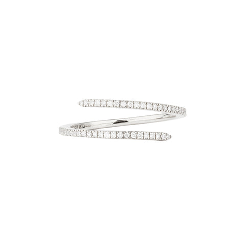 Diamond White Spin Ring - Engelbert - Rings | Broken English Jewelry