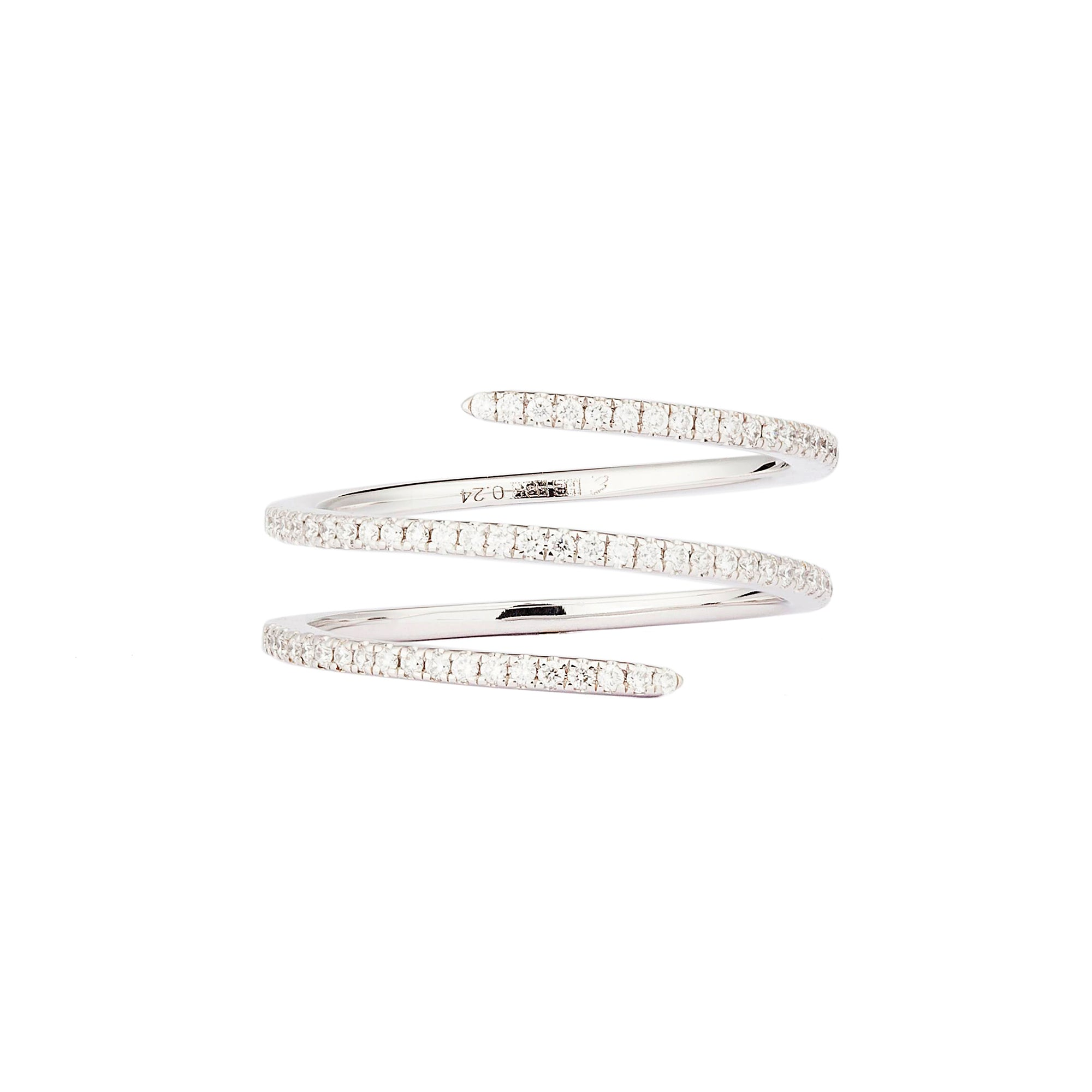 Diamond White Double Spin Ring - Engelbert - Rings | Broken English Jewelry