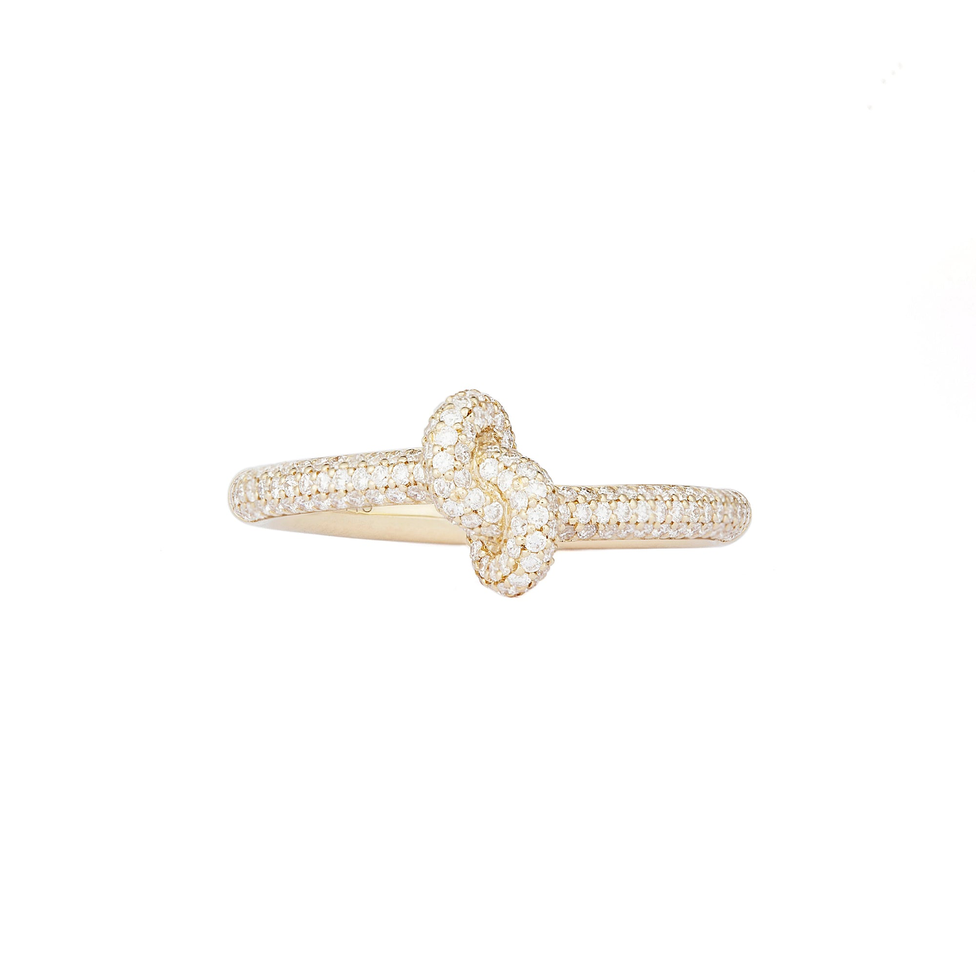 Diamond Yellow Slim Knot Ring - Engelbert - Rings | Broken English Jewelry