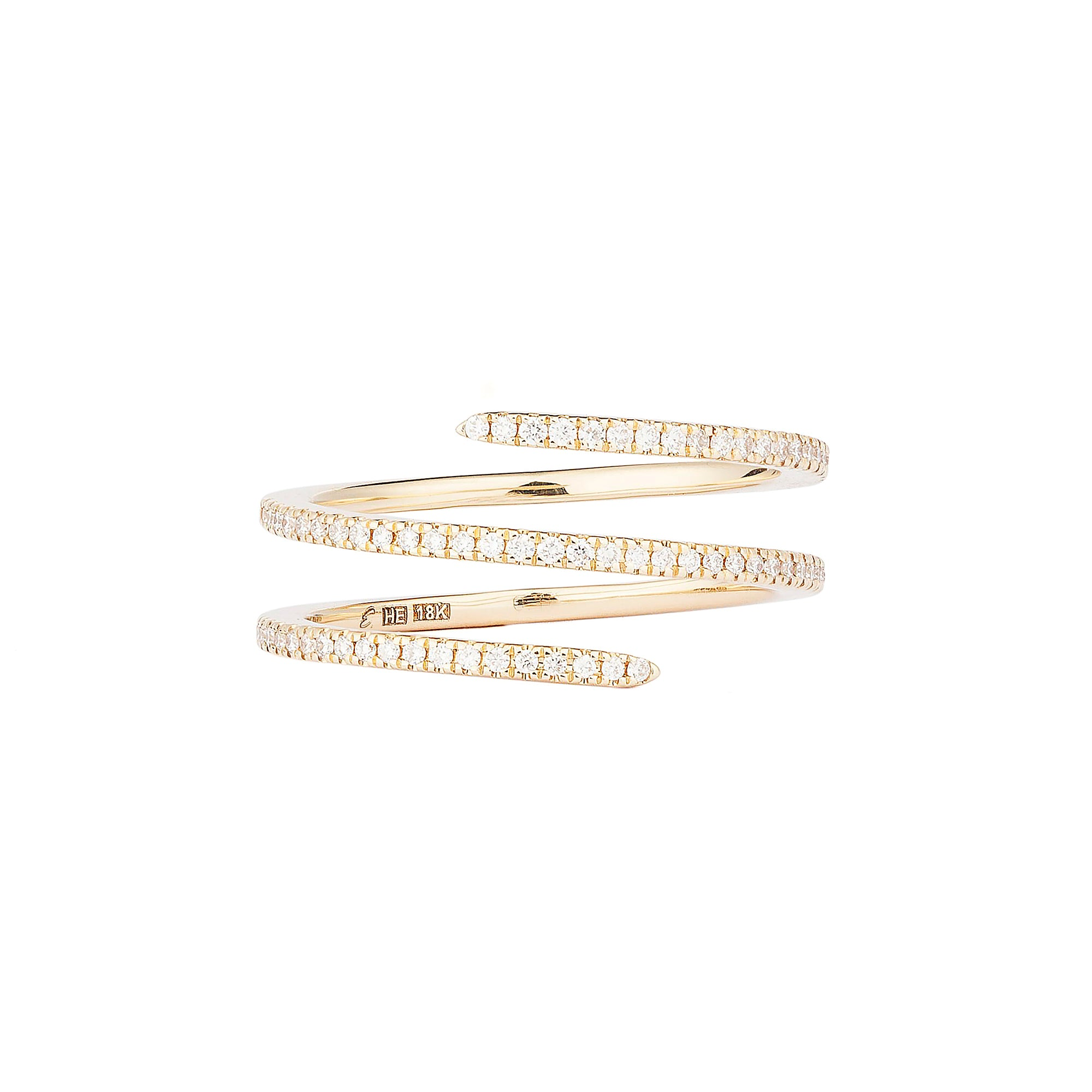 Diamond Yellow Double Spin Ring - Engelbert - Rings | Broken English Jewelry