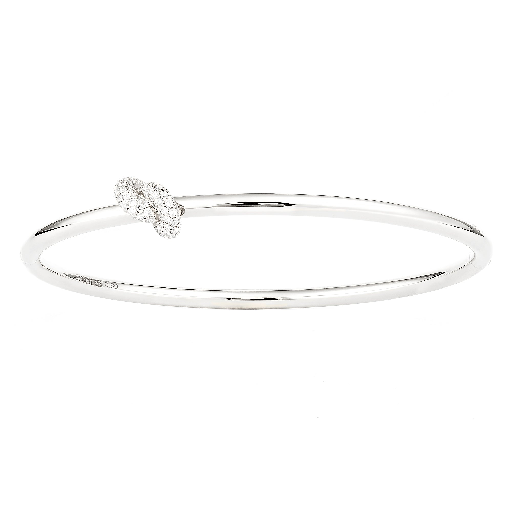 Diamond White Knot Bangle - Engelbert - Bracelets | Broken English Jewelry