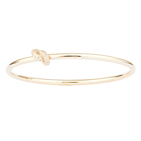 Diamond Yellow Knot Bangle - Engelbert - Bracelets | Broken English Jewelry