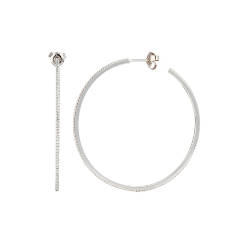 Diamond White Petit Hoops - Engelbert - Earrings | Broken English Jewelry