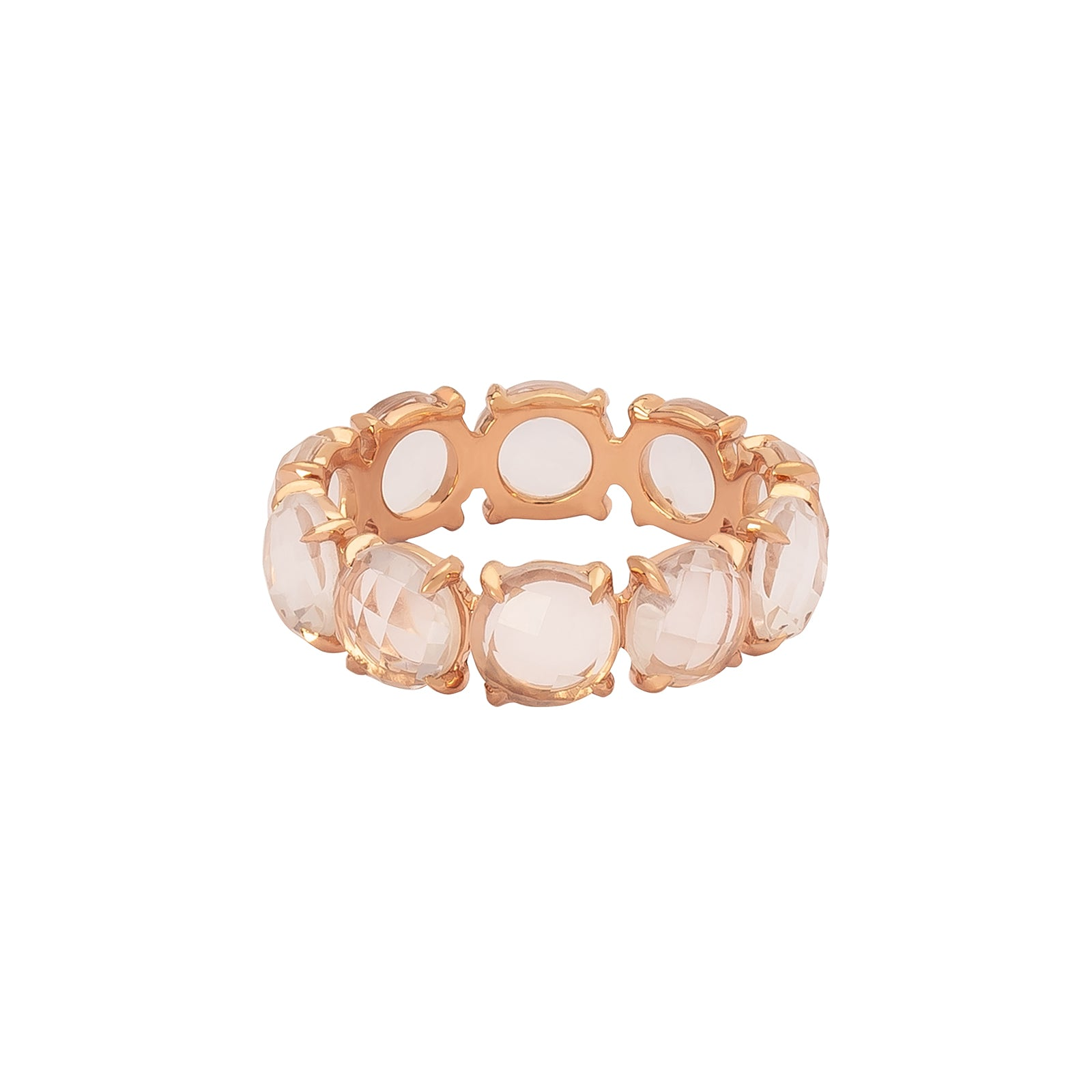 Bondeye Rock Crystal Eternity Ring - Rose Gold - Rings - Broken English Jewelry