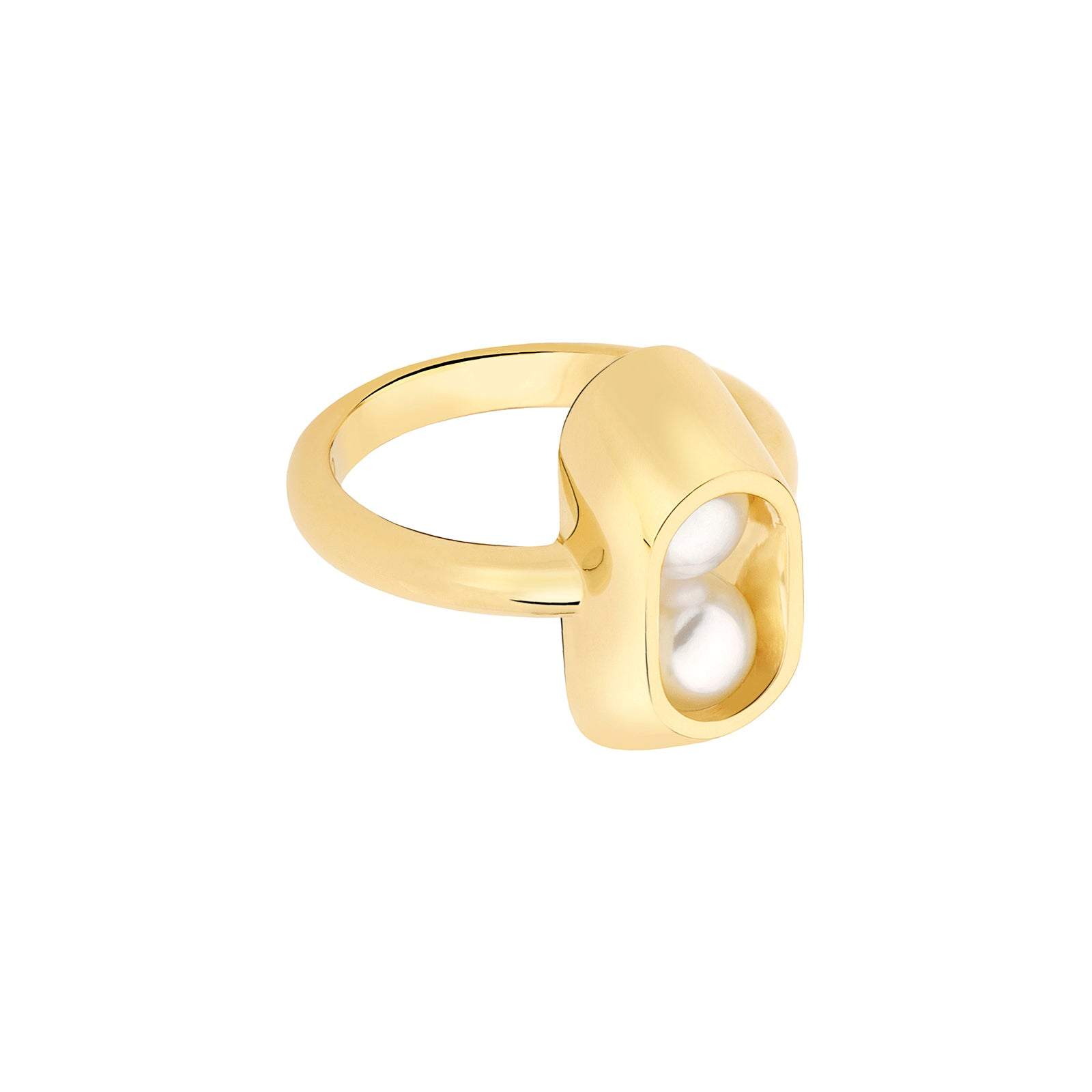Yael Sonia Ellipse Cocoon Small Ring - Rings - Broken English Jewelry