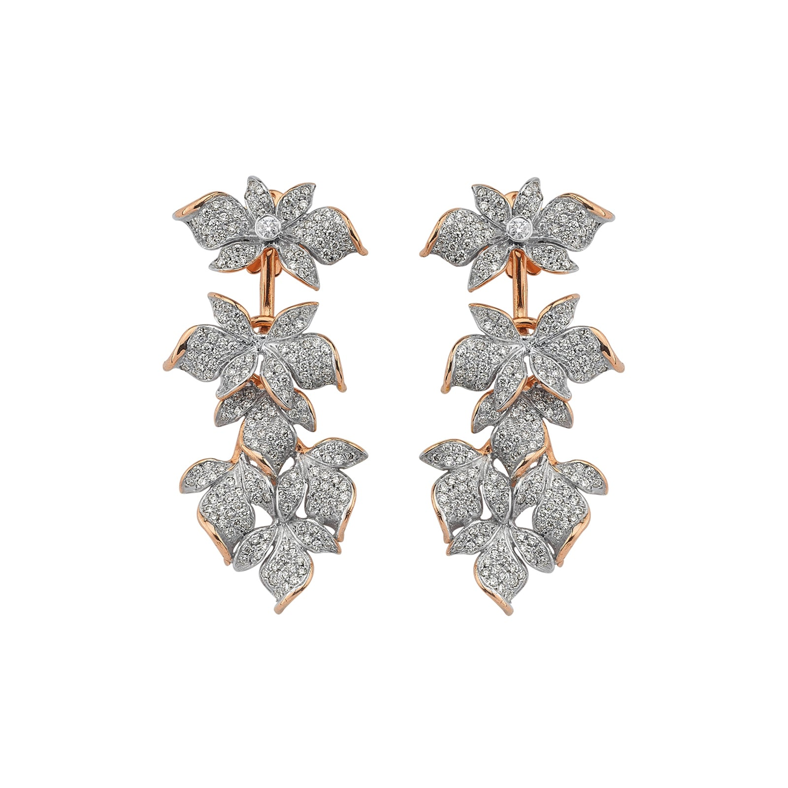 Aida Bergsen Ivy Earrings - White Diamond - Earrings - Broken English Jewelry