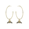 Aida Bergsen Bee Hoop Earrings - Earrings - Broken English Jewelry