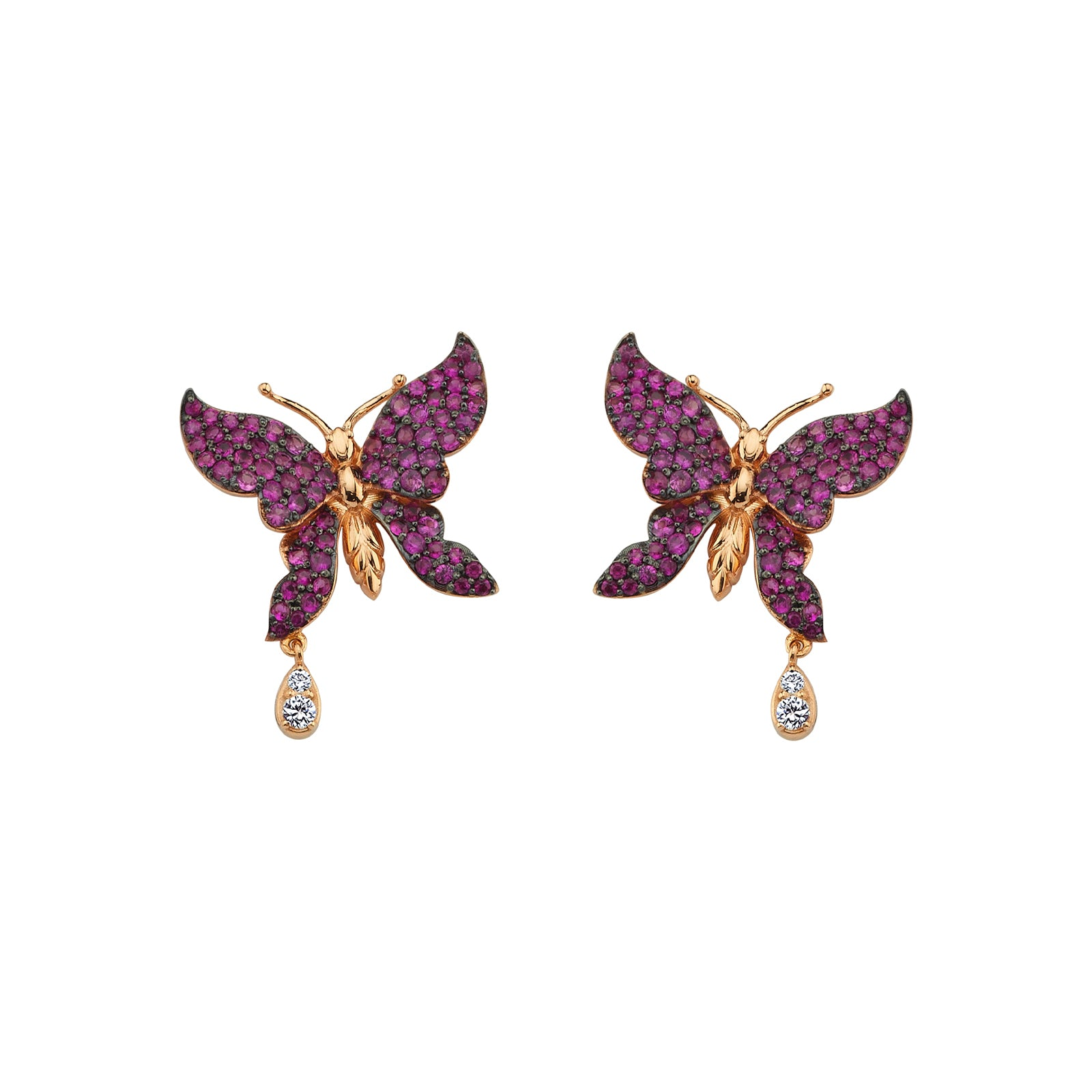 Aida Bergsen Flutter Stud Earrings - Ruby - Earrings - Broken English Jewelry