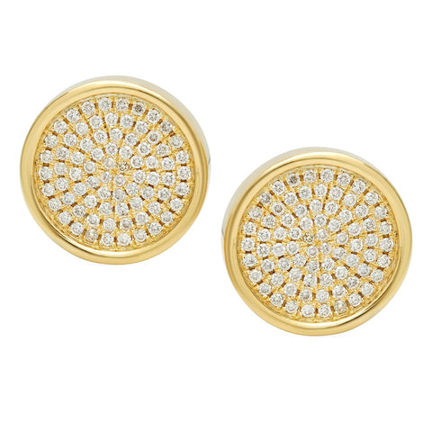 Circle Surface Diamond Studs