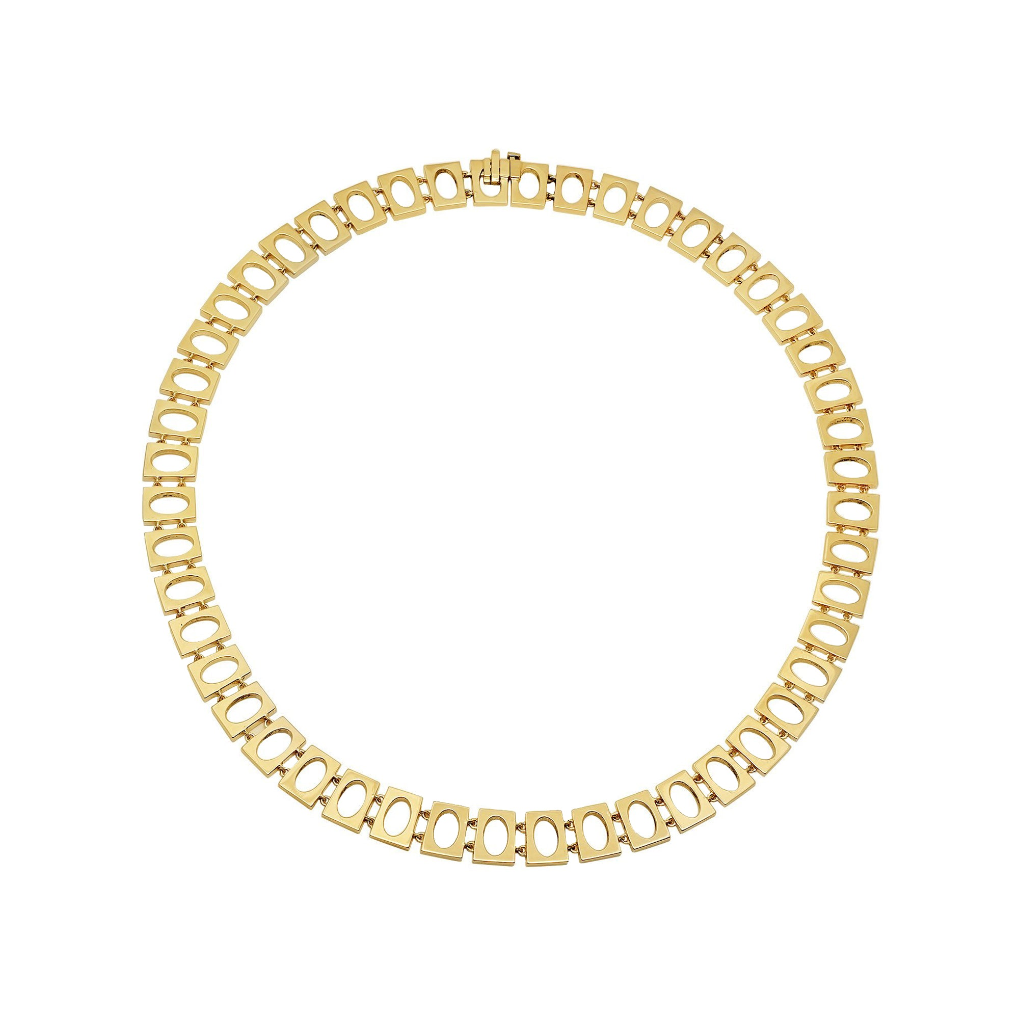 Established Jewelry Oval Link Collar Necklace - Gold - Necklaces - Broken English Jewelry