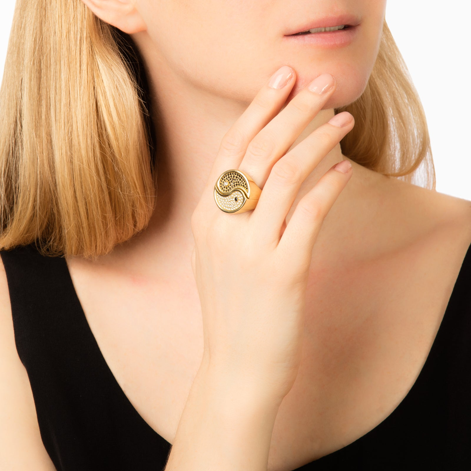 Established Jewelry 2-Piece Yin Yang Ring - Rings - Broken English Jewelry
