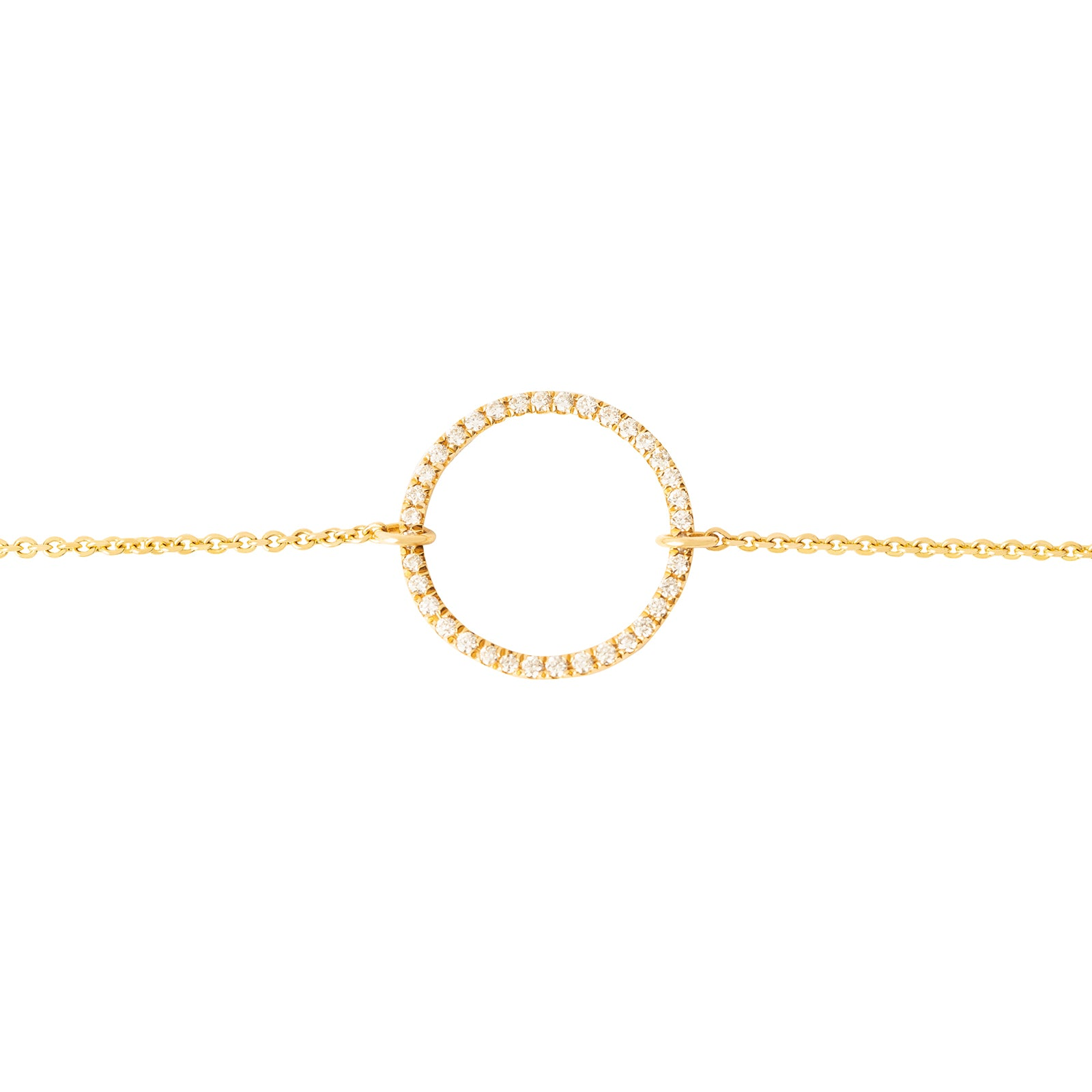 Rosa de la Cruz Eternity Circle Charm Bracelet - Yellow Gold - Bracelets - Broken English Jewelry