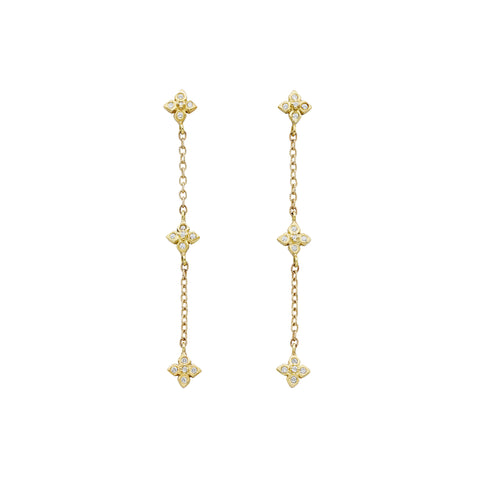 Chain Reaction Pointed Petal Earrings