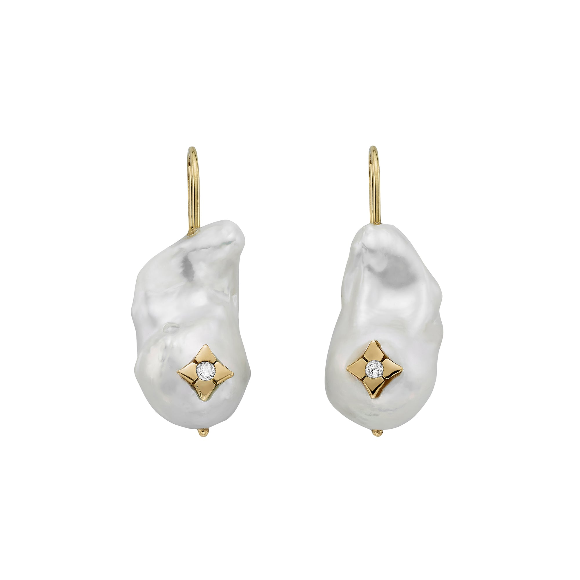 Baroque Clover Inlay Earrings - Ilene Joy - Earrings | Broken English Jewelry