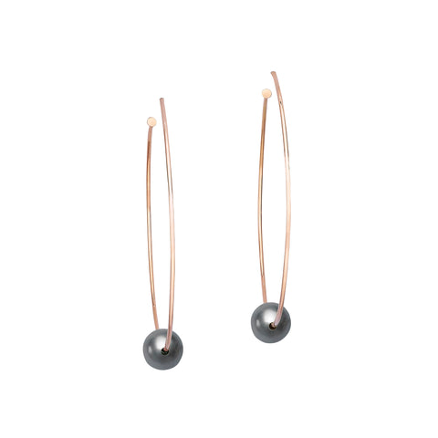 Hula Tahitian Pearl Charm Earrings - Ilene Joy - Earrings | Broken English Jewelry