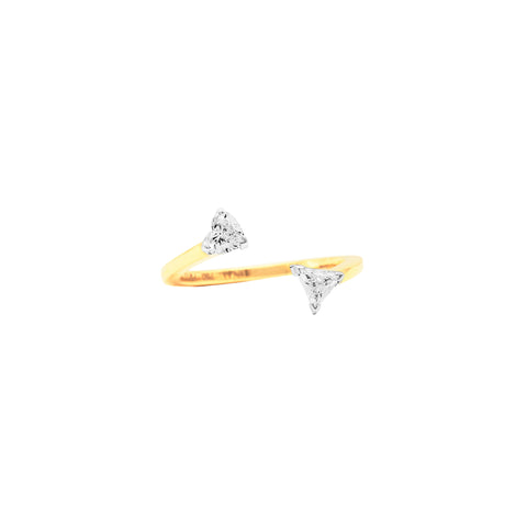 Bias Floating Ring - Swati Dhanak - Rings | Broken English Jewelry