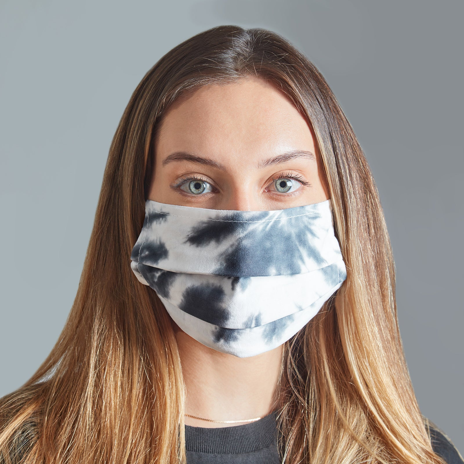 Fraction LA Tie Dye Face Mask - Chocolate, Burgundy & Ice Blue - Accessories - Broken English Jewelry
