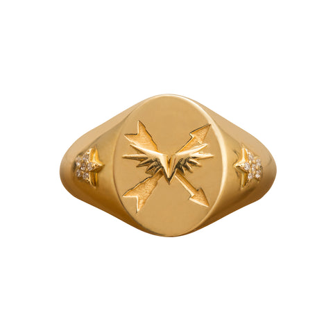 Passion Signet Ring by Foundrae for Broken English Jewelry