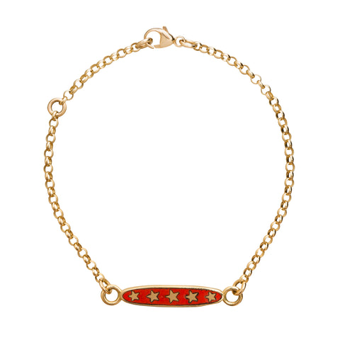 Red Stars Sequence Bracelet by Foundrae for Broken English Jewelry