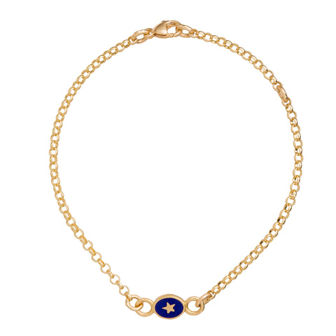 Blue Star Bracelet - Foundrae - Bracelet | Broken English Jewelry