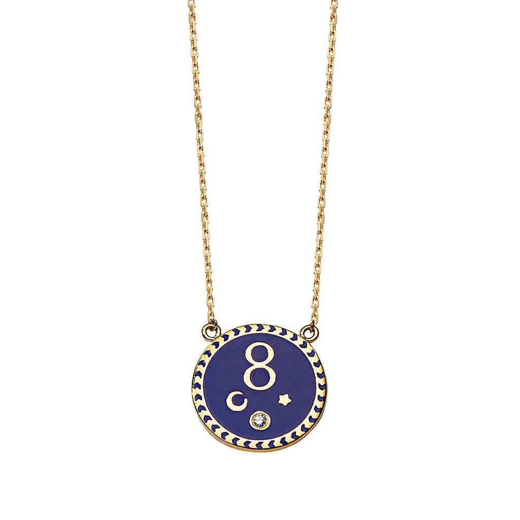 Karma Enamel Necklace