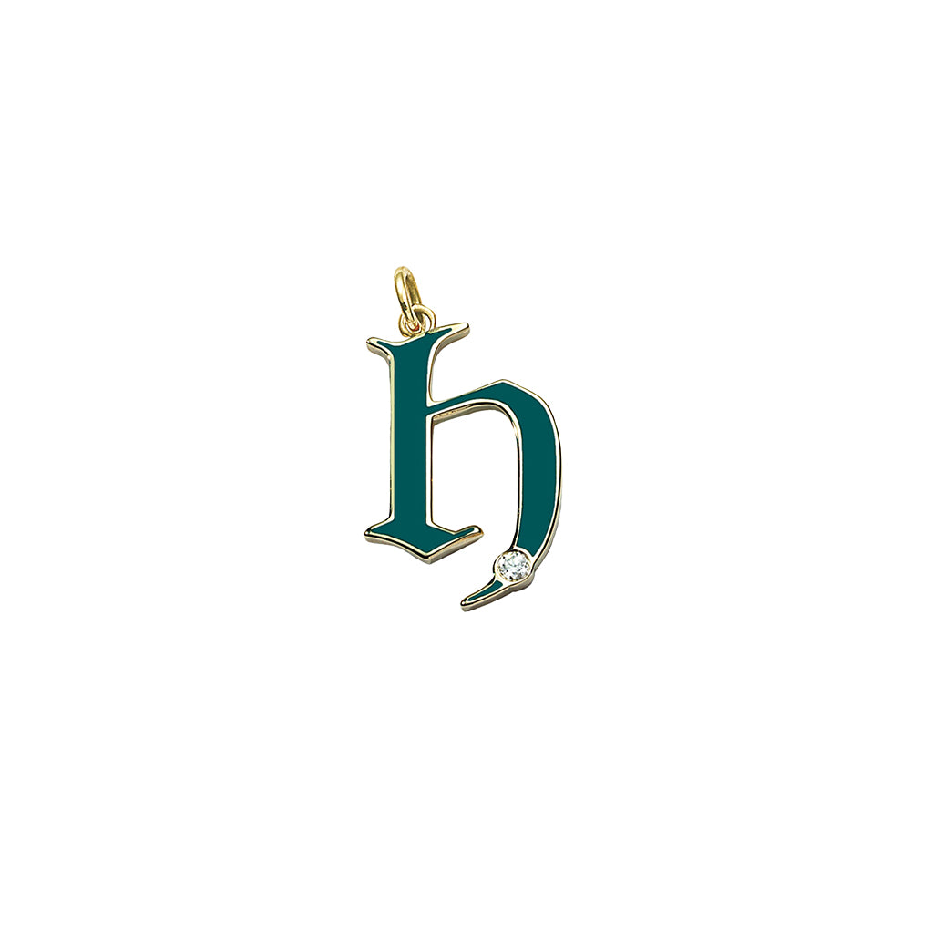 Letter H Charm by Foundrae for Broken English Jewelry