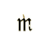 Letter M Charm by Foundrae for Broken English Jewelry