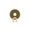 Foundrae Horseshoe Green Disk - Charms & Pendants - Broken English Jewelry
