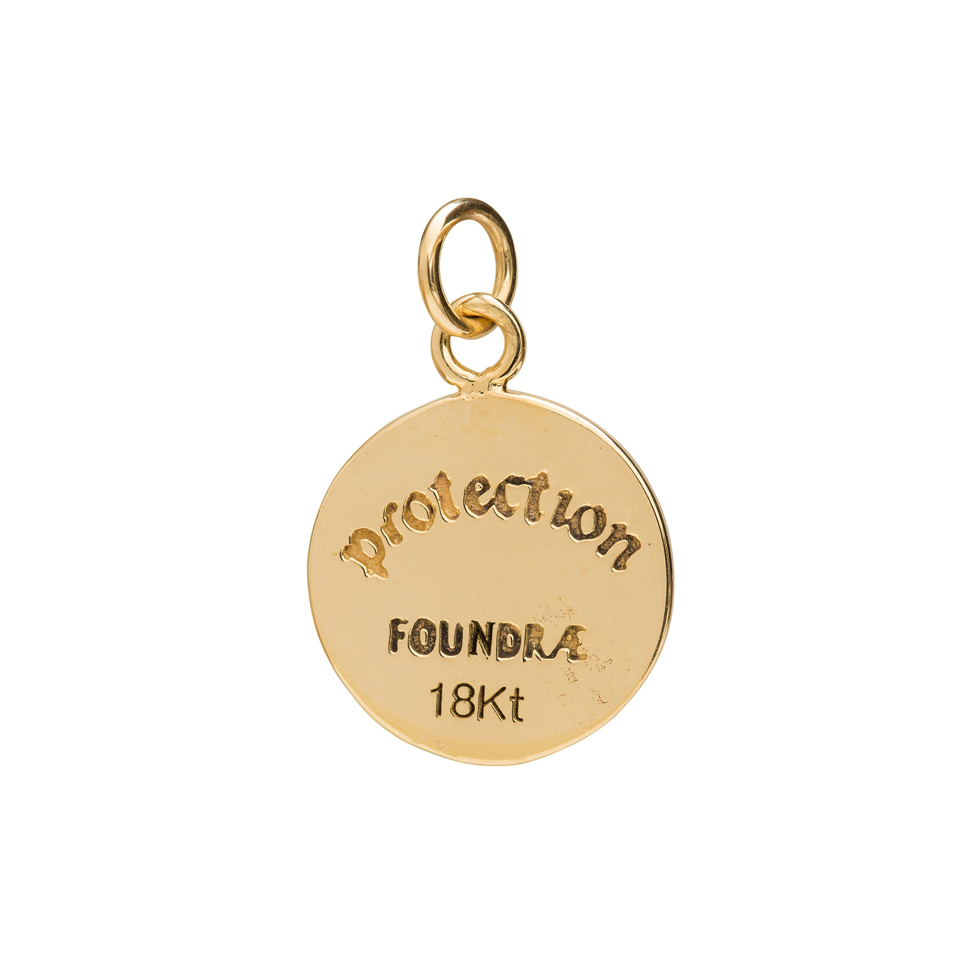 Protection Enamel Charm by Foundrae for Broken English Jewelry