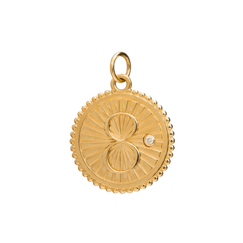 Diamond Karma Medallion by Foundrae for Broken English Jewelry
