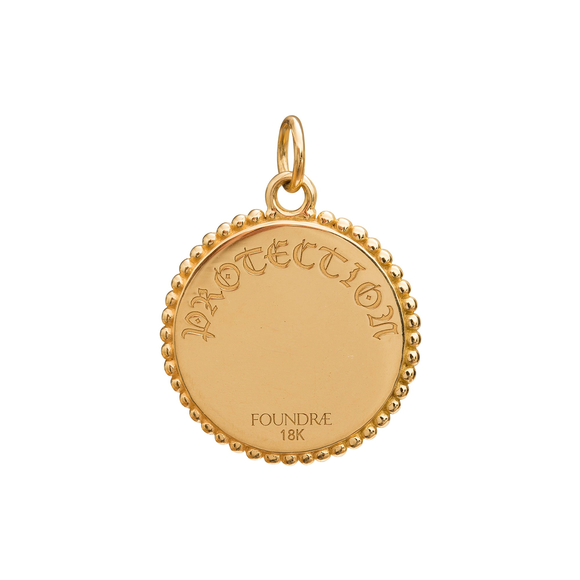 Protection Medallion by Foundrae for Broken English Jewelry