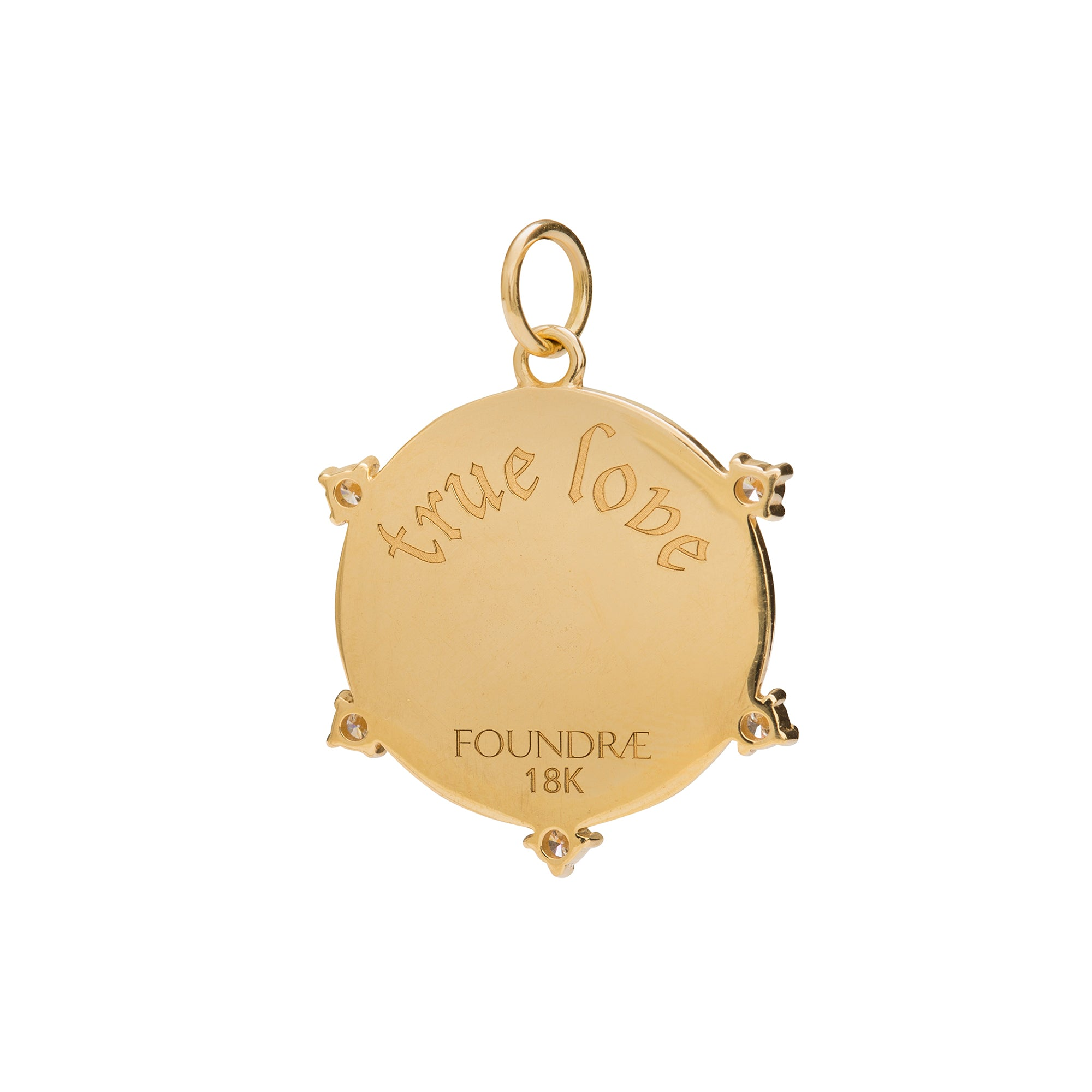 True Love Medallion by Foundrae for Broken English Jewelry