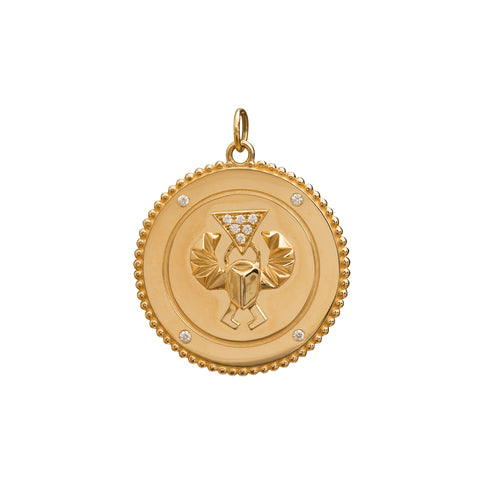 Diamond Protection Medallion by Foundrae for Broken English Jewelry