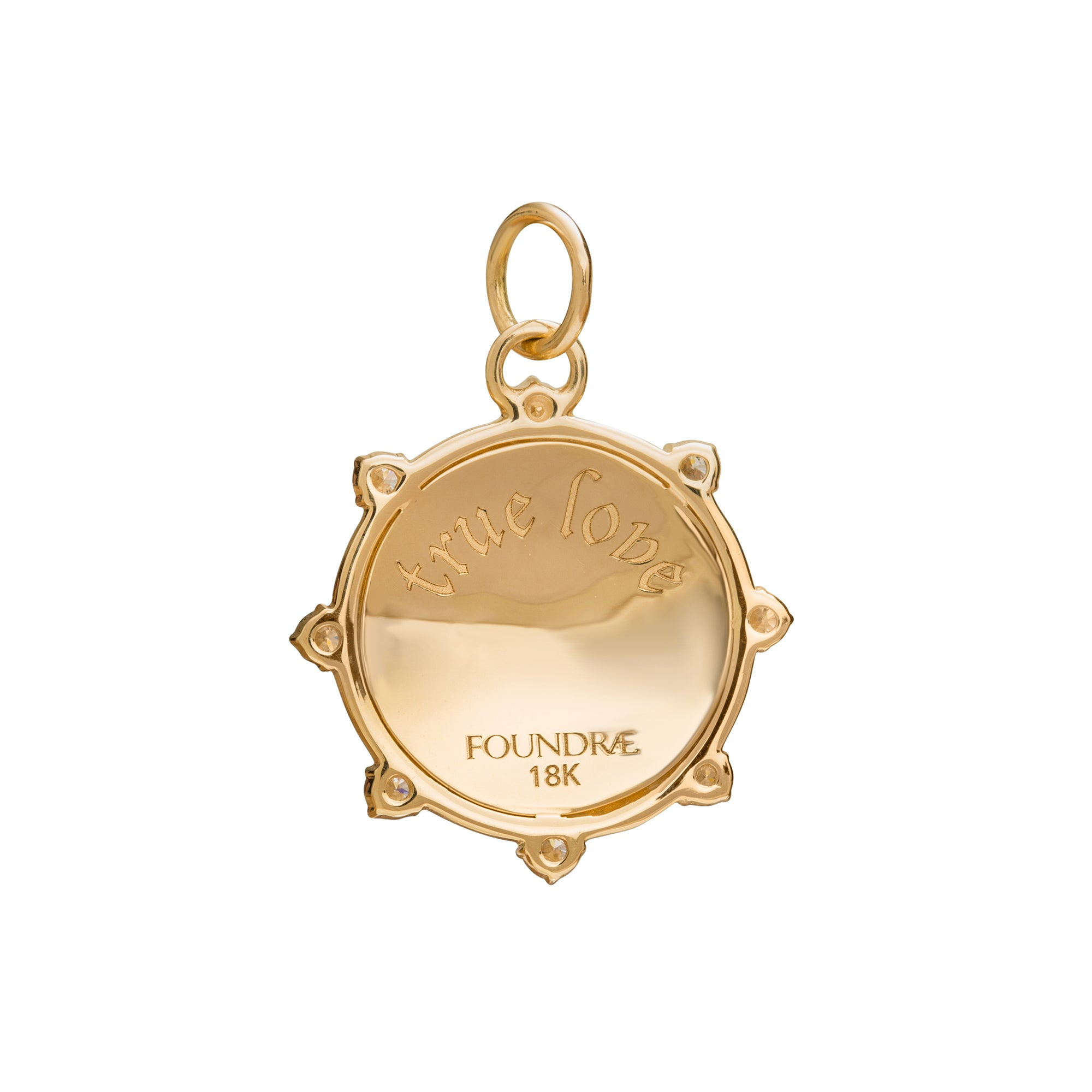 True Love Spark Medallion by Foundrae for Broken English Jewelry