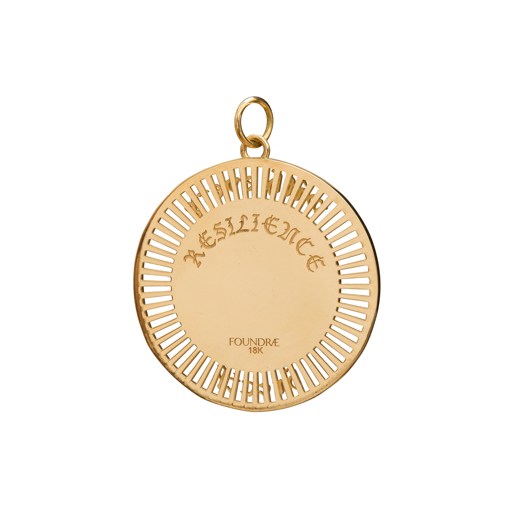 Resilience Medallion by Foundrae for Broken English Jewelry