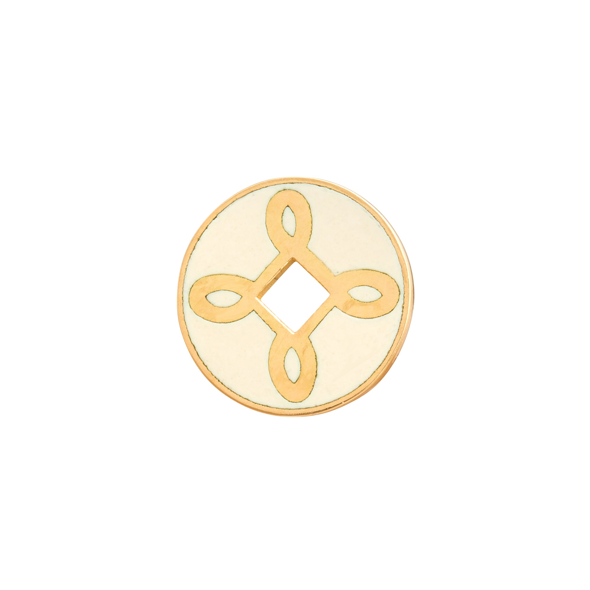 True Lovers Knot Disk by Foundrae for Broken English Jewelry