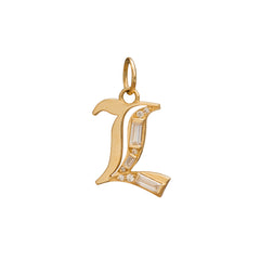 L Charm by Foundrae for Broken English Jewelry