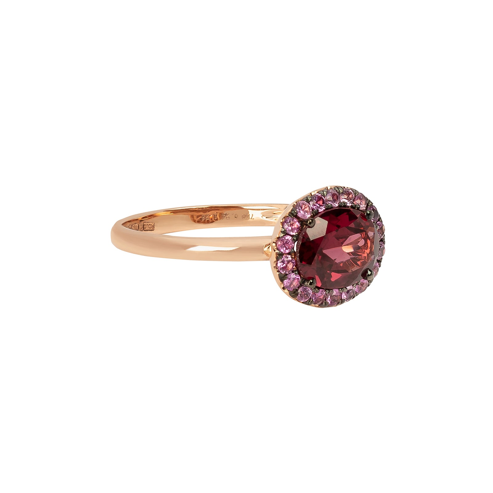 Rosa de la Cruz Oval Ring - Garnet & Pink Sapphire - Rings - Broken English Jewelry