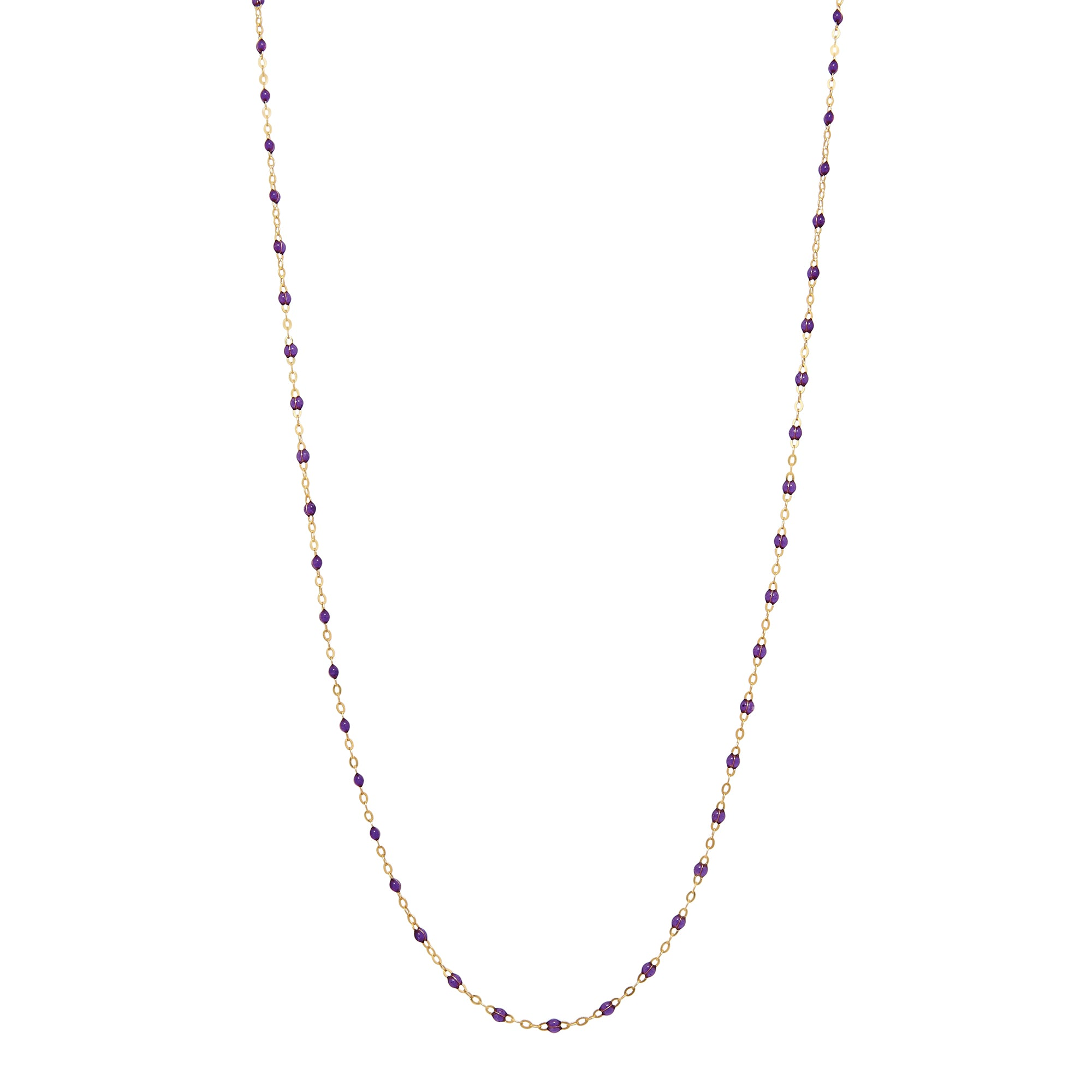 "34"" Gold & Resin Chain Necklace"