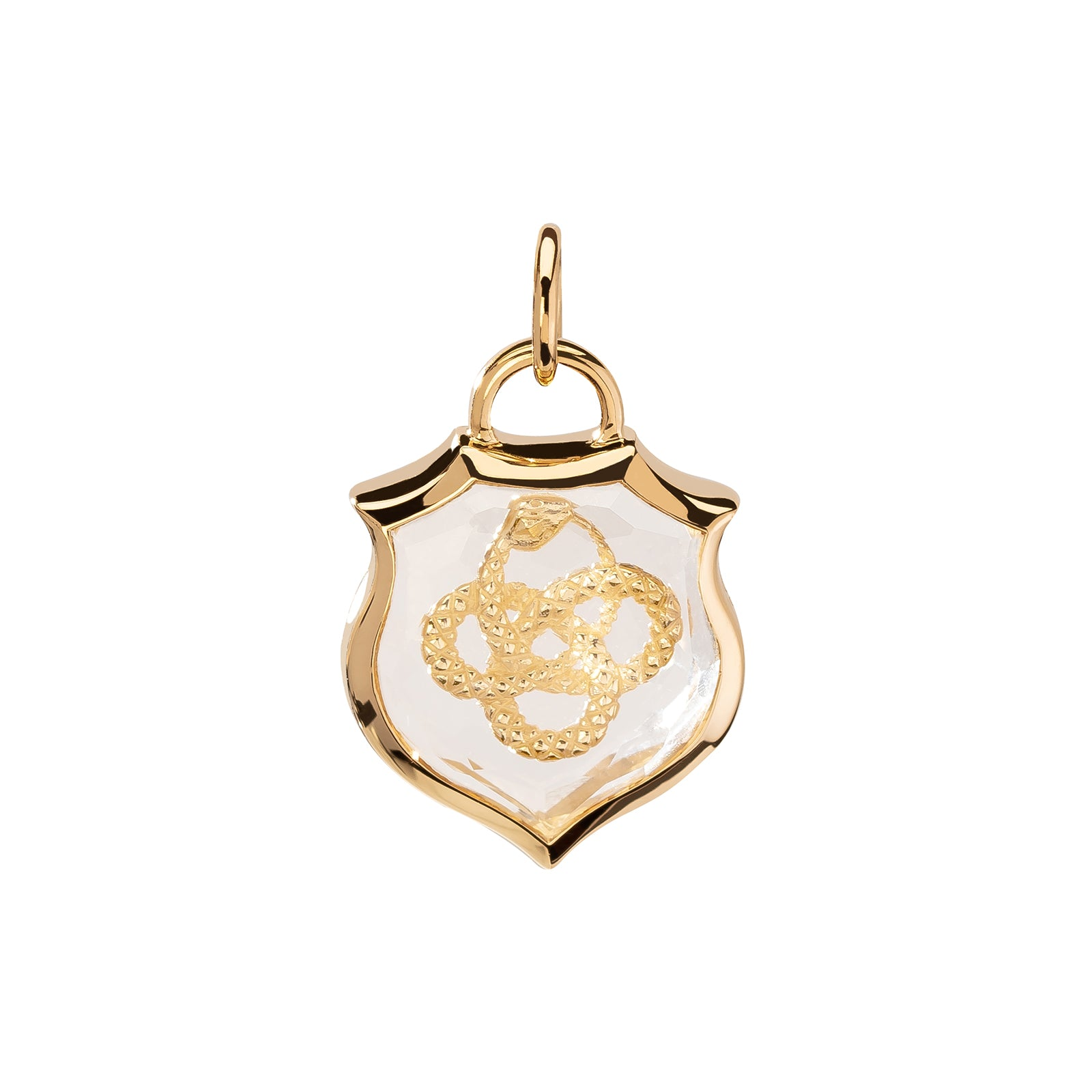 Foundrae Small Sealed Gemstone Crest Pendant - Snake - Charms & Pendants - Broken English Jewelry