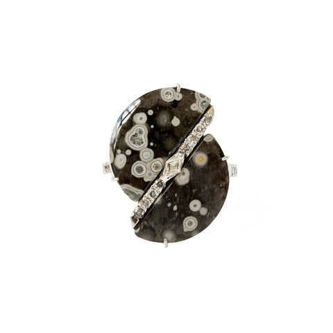 Cosmic Obsidian Round Ring - Xiao Wang - Rings | Broken English Jewelry