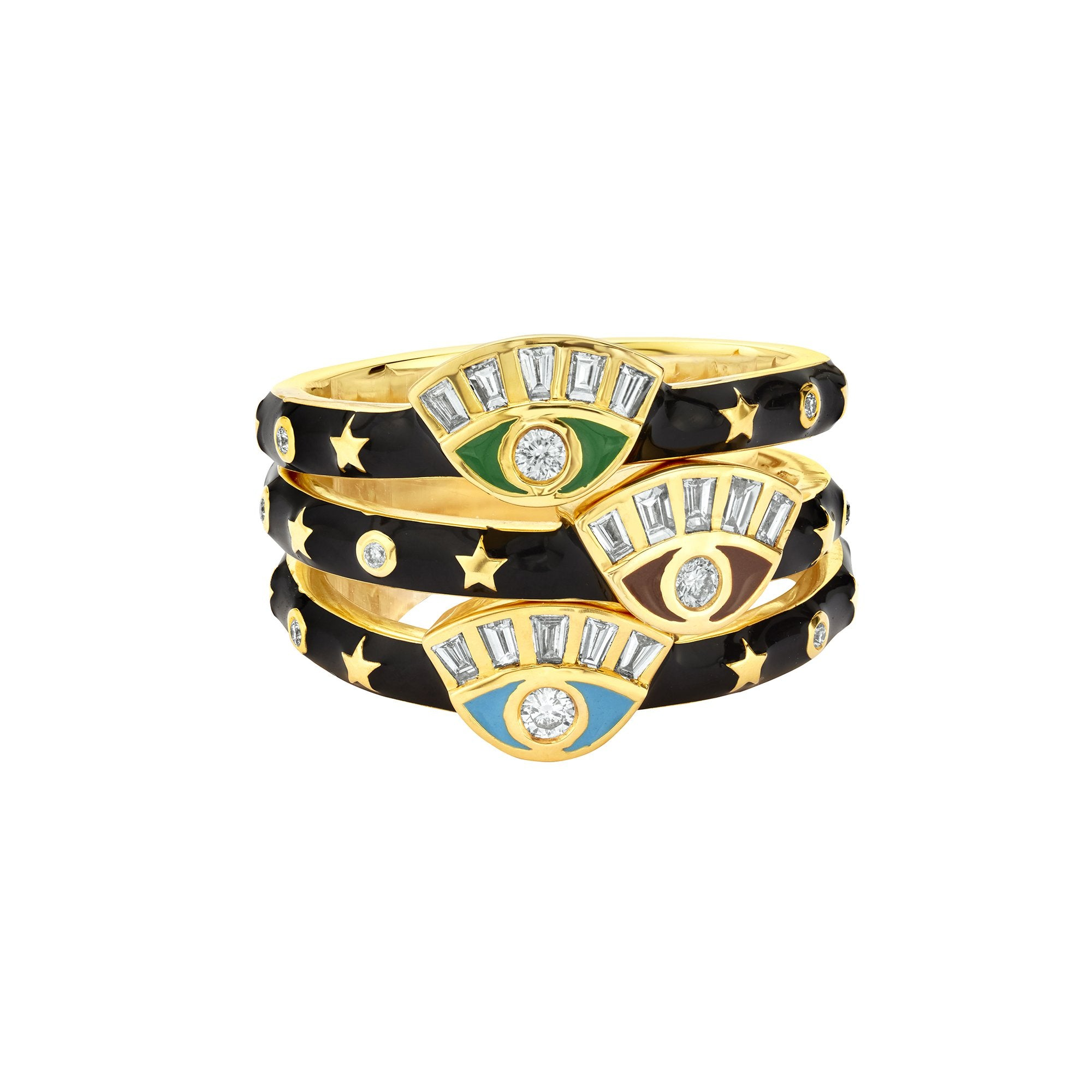 Buddha Mama Skinny Evil Eye Ring - Rings - Broken English Jewelry